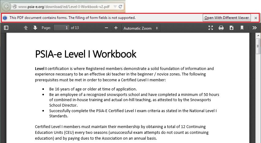 Level 1 Workbook Psia East Aasi