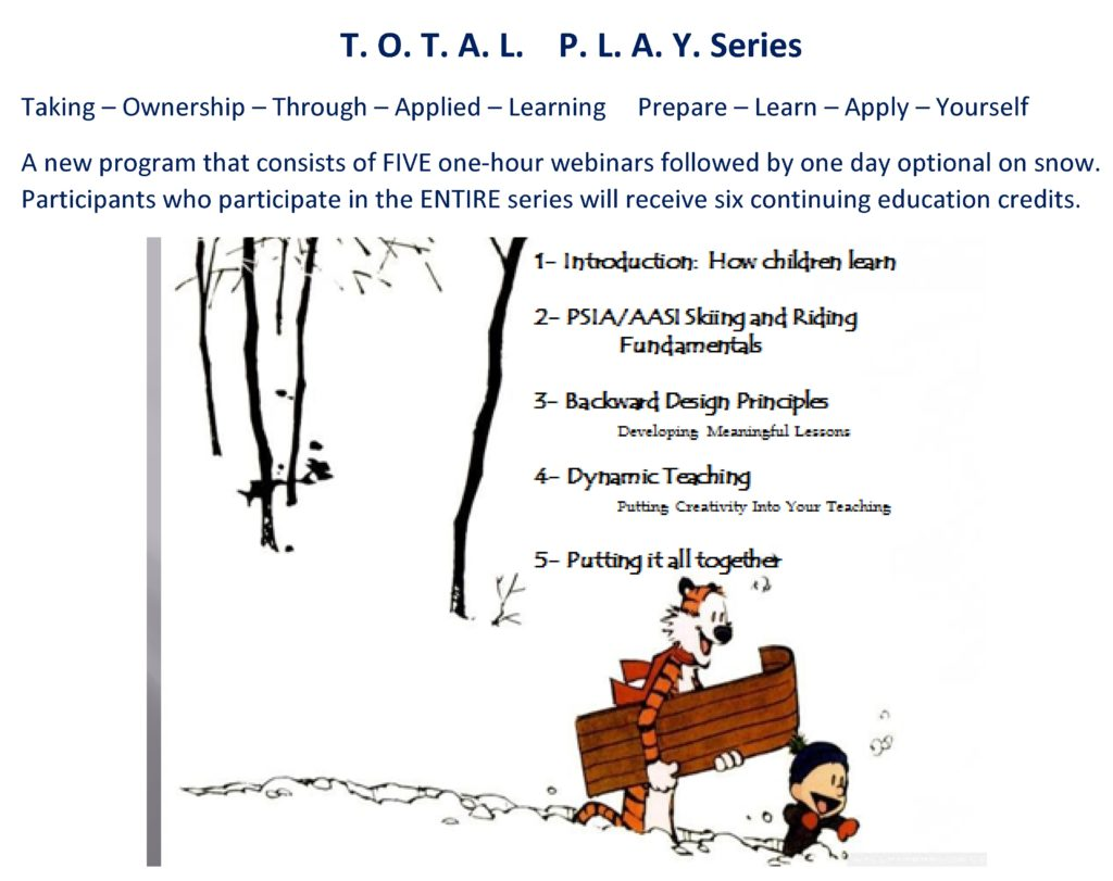 993: T. O. T. A. L.   P. L. A. Y. Series - 5 session webinar series @ Online | Wilmington | New York | United States
